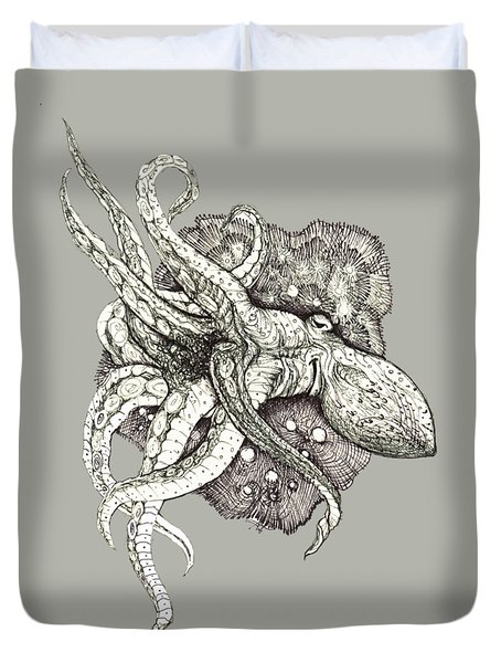 Octopus Duvet Cover by Adria Trail