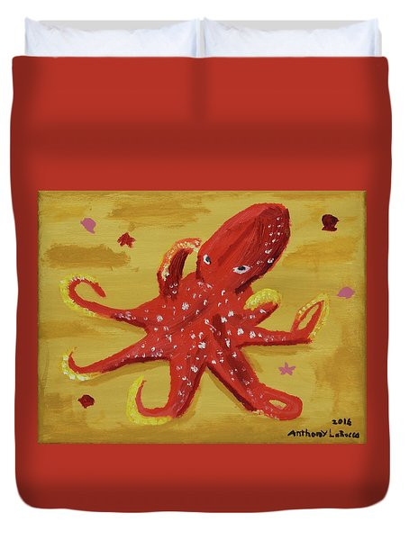 Octopus Duvet Cover by Anthony LaRocca