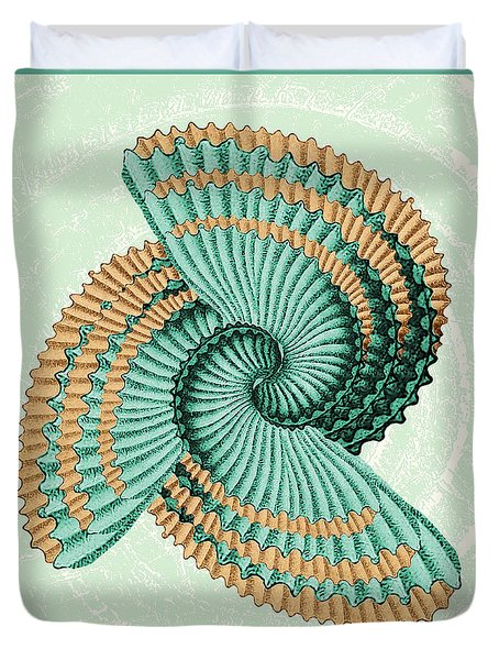 Octopus Shell Abstract Duvet Cover