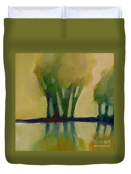 Odd Little Trees Duvet Cover