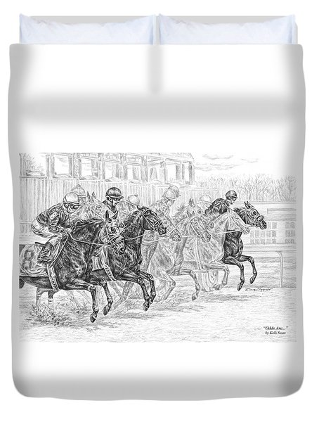 Odds Are... - Tb Race Horse Print Duvet Cover