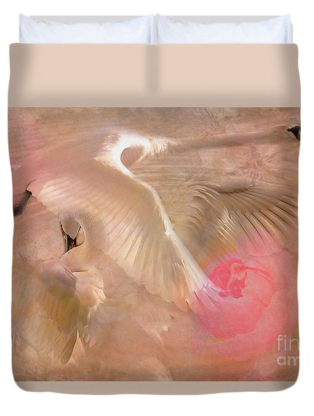 Ode To A Swan 2015 Duvet Cover