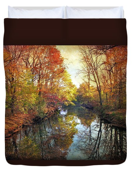 Duvet Cover featuring the photograph Ode To Autumn by Jessica Jenney