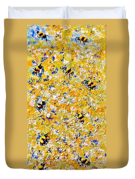 Ode To Bees.. Duvet Cover
