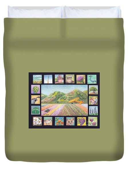 Ode To Lompoc Duvet Cover