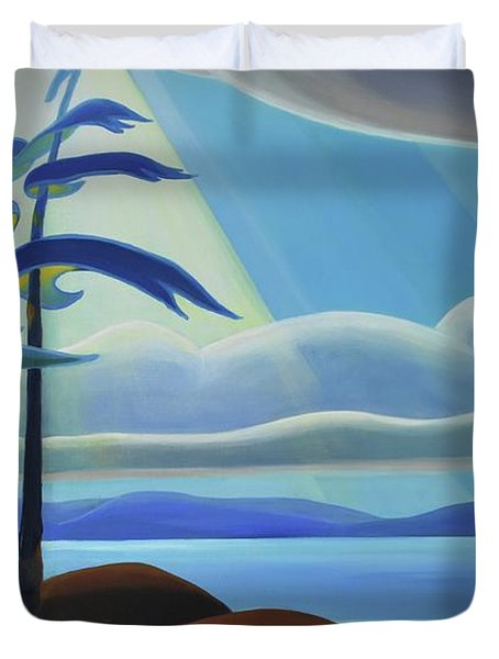 Ode To The North II - Center Panel Duvet Cover