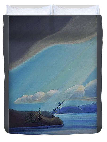 Ode To The North II - Left Panel Duvet Cover