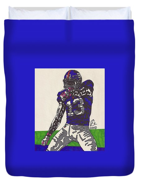 Odell Beckham Jr  Duvet Cover by Jeremiah Colley