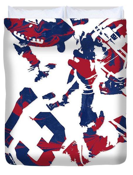 Odell Beckham Jr New York Giants Pixel Art 5 Duvet Cover
