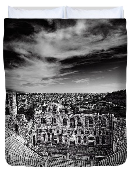 Odeon Of Herodes Atticus Duvet Cover by Ian Good