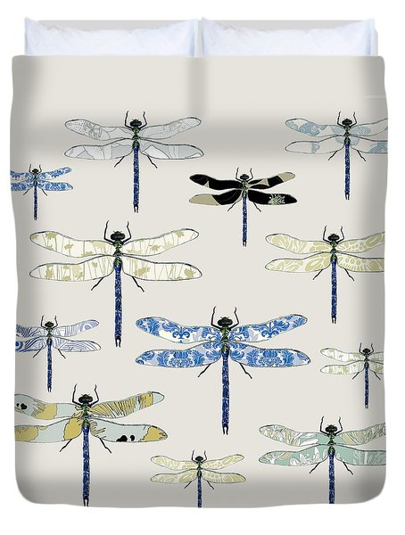 Odonata Duvet Cover by Sarah Hough