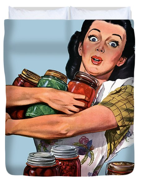 Of Course I Can -- Ww2 Propaganda Duvet Cover