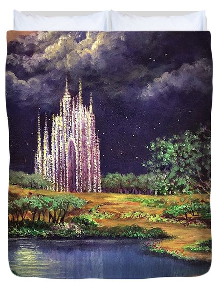 Of Glass Castles And Moonlight Duvet Cover