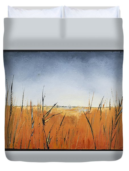 Of Grass And Seed Duvet Cover