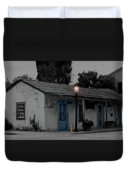 Duvet Cover featuring the photograph Of Old by Barbara R MacPhail