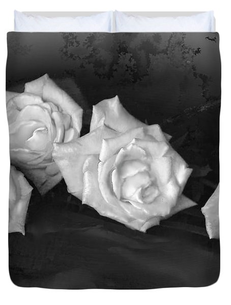 Even Roses Now And Then Duvet Cover