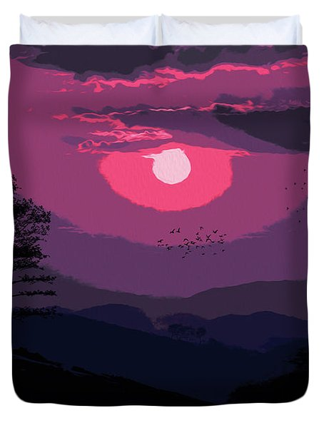 Of Skies And Magic Duvet Cover by Andrea Mazzocchetti