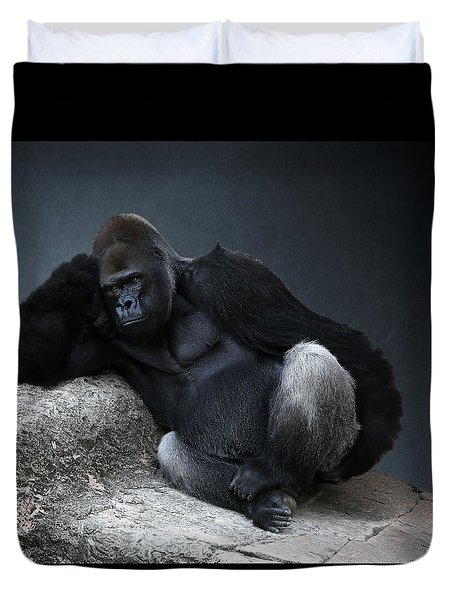 Off Duty Gorilla Duvet Cover