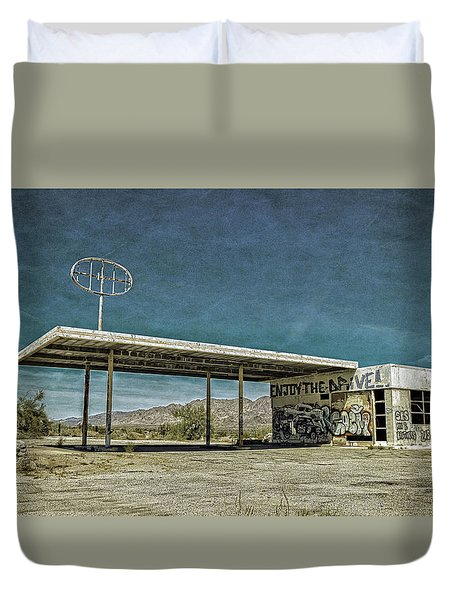Off Highway 10 Duvet Cover
