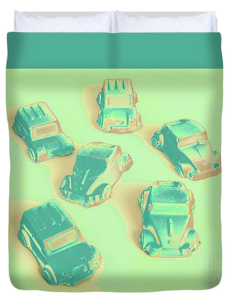 Off Road Retro Rally  Duvet Cover
