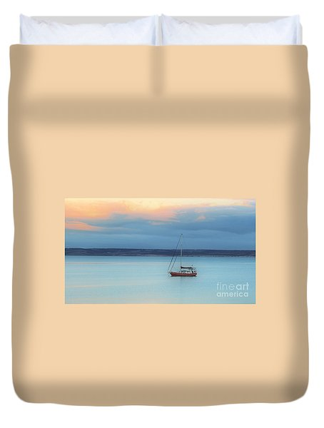 Duvet Cover featuring the photograph Off Sailing by Stephen Mitchell