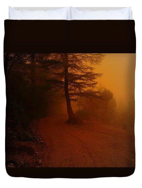 Off The Beaten Path Duvet Cover