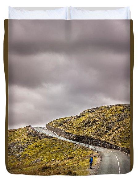 Off The Edge Duvet Cover by David Warrington