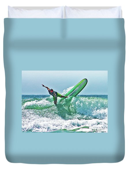 Duvet Cover featuring the digital art Off The Top by William Love