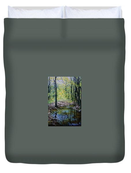 Off The Trail Duvet Cover