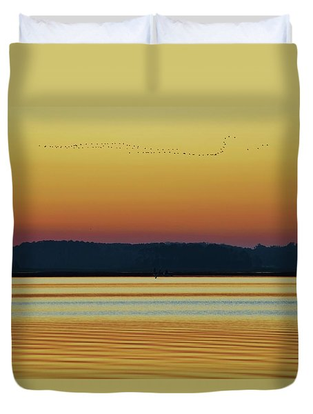 Off To Florida Duvet Cover by William Bartholomew