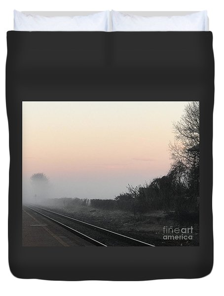 Off To Work Duvet Cover