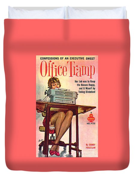 Office Tramp Duvet Cover