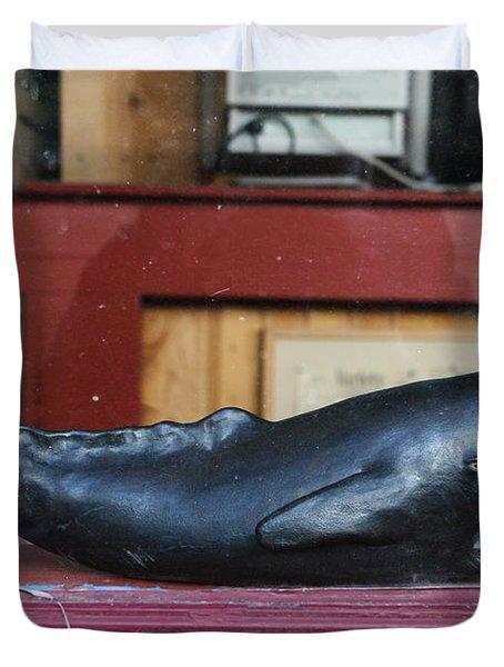 Office Whale Duvet Cover