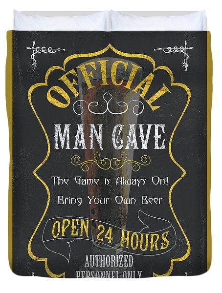 Official Man Cave Duvet Cover