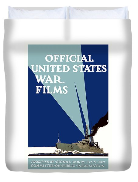 Official United States War Films Duvet Cover by War Is Hell Store