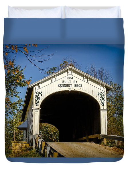 Offutt's Ford Covered Bridge Duvet Cover