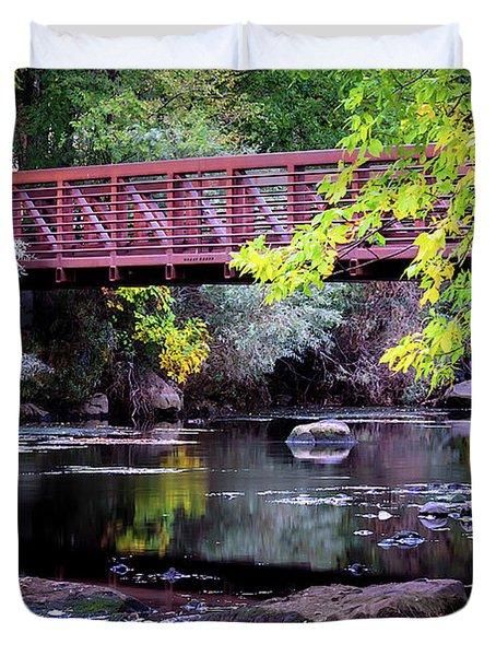 Ogden River Bridge Duvet Cover