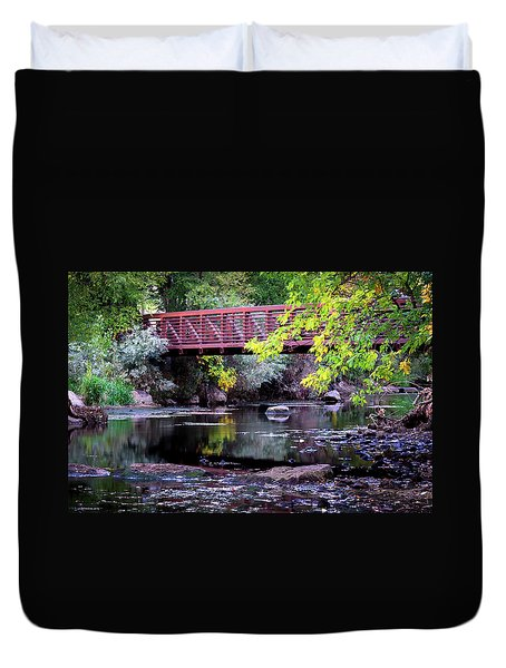 Ogden River Bridge Duvet Cover