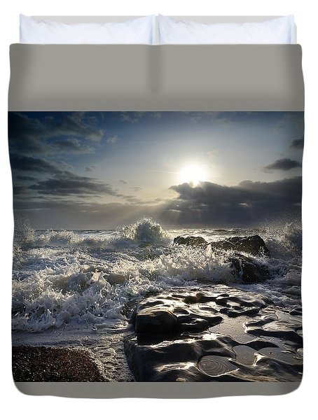 Ogmore By Sea Duvet Cover