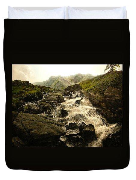 Ogwen Falls Duvet Cover
