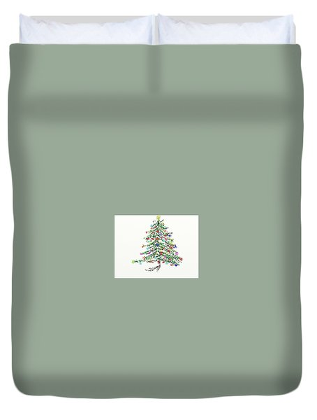 Oh Christmas Tree Duvet Cover by Carol Berning