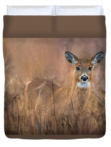 Duvet Cover featuring the photograph Oh Deer by Robin-Lee Vieira