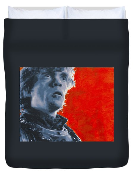 Duvet Cover featuring the painting Tyrion Lannister by Luis Ludzska