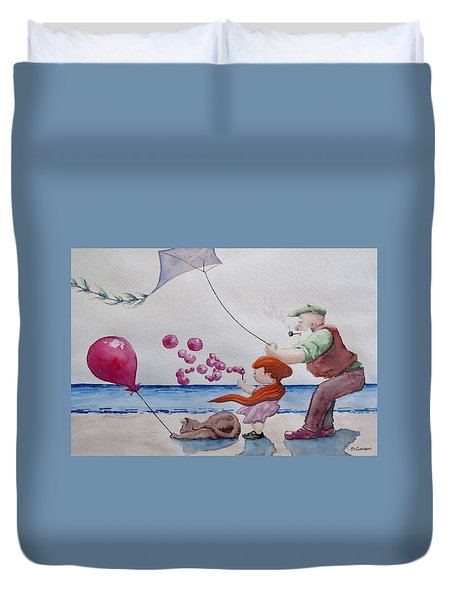 Oh My Bubbles Duvet Cover by Geni Gorani