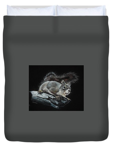 Oh Nuts  Duvet Cover by Jean Cormier