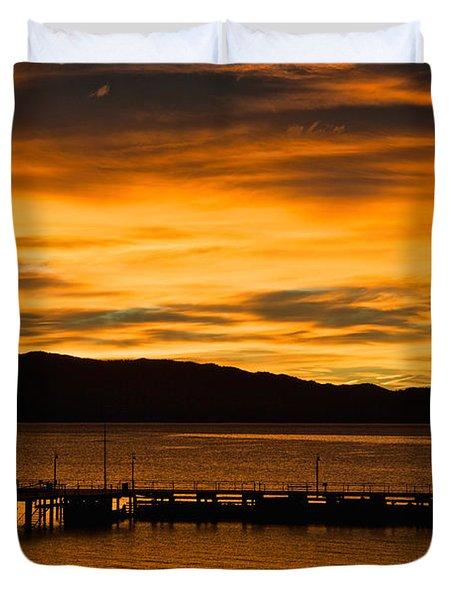 Oh Tahoe Glow Duvet Cover