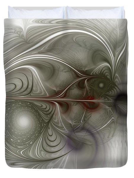 Duvet Cover featuring the digital art Oh That I Had Wings - Fractal Art by NirvanaBlues