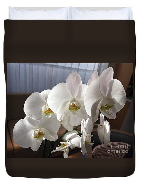 Oh Those Orchids Duvet Cover