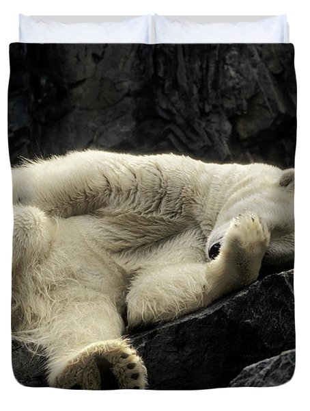 Oh What A Night Polar Bear Duvet Cover