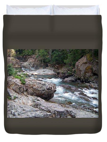 Ohanapacosh River Duvet Cover